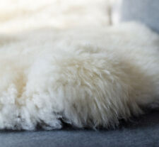 Genuine British Sheepskin XXXL Huge 130-135cm / 75-80cm Cream / White Fur Rug