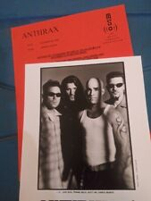 Anthrax 1999 press kit with 8x10 photo