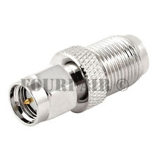 10 Pack SMA Male Plug to F-Type Female Jack RF Coax Adapter Converter Connector