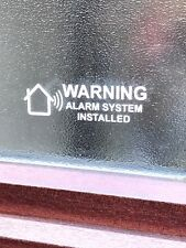 4 x HOUSE ALARM VINYL STICKER/ DECAL , WINDOW WARNING SECURITY SIGNS
