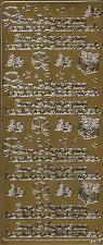 Stickerbogen Sticker Aufkleber Zum Geburtstag herzlichen Glückwunsch gold (A11