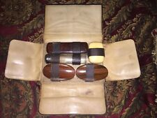 ANTIQUE LEATHER BOUND GROOMING TRAVEL KIT