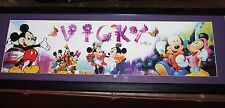 Nice Disney Mickey Mouse Name Sign Vicky Signed Framed & Matted 34""
