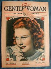 Vtg 1935 GENTLEWOMAN Magazine The Home Magazine October