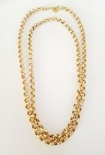 Soixante Neuf Gold Plated Sterling Silver 925 Filled Circle Chain Link Necklace