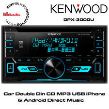 KENWOOD DPX-3000U - Car Double Din CD MP3 USB iPhone & Android Direct Music