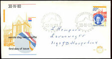 Netherlands 1980 Queen Beatrix FDC First Day Cover #C22157