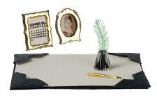Desk Set, Dolls House Miniature Desk Study Accessories, 1.12 Scale