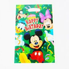 Party : Mickey Mouse Plastic Loot Bag 10 pcs