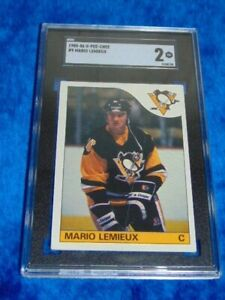 1985-86 OPC O-pee-chee Mario Lemieux Rookie SGC 2