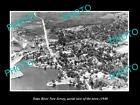 OLD LARGE HISTORIC PHOTO OF TOMS RIVER NEW JERSEY AERIAL VIEW OF THE CITY 1940 3