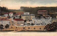 Czech Republic postcard Marienbad Mariánské Lázně panorama street scene pre-1907