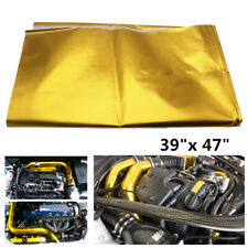 "Universal 39""x47"" Reflect A Gold Heat Wrap Barrier For Car Truck Thermal Exhaust"