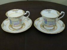 RARE Vintage Royal Paragon 'By Appointment' Garden Gate Tea Cup & Saucer Pair