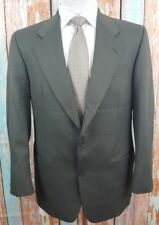 Yves Saint Laurent 38R Grey/Green Wool Single Breasted 2 Piece Mens Suit