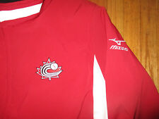 Game Worn BASEBALL CANADA Manager Ernie Whitt Red Warm Up Jacket XXL Mizuno