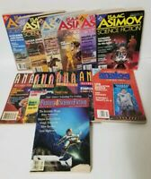 Vintage Lot of 12 Analog Isaac Asimov Science Fiction Magazines 1980s 1990s