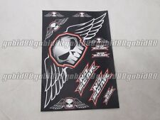 Body Fairing sticker One Industries NO FEAR SKULL for GSXR NINJA CBR YZF #m8