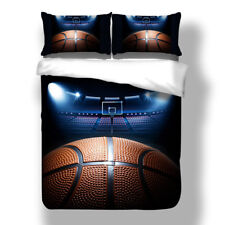 Basketball Quilt/Doona/Duvet Cover Set Pillow Cases Queen/King Size Bed HD Print