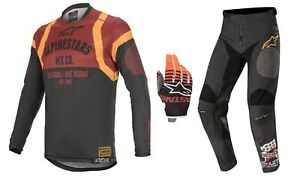 5% OFF ALPINESTARS Racer Tech Flagship 2020 Black/Red/Ora MX Jersey/Pants/Gloves