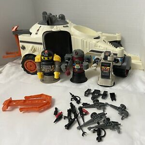 Vintage Ideal Robo Force Command Patroller Vehicle with 3 Robots & Weapons