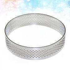 1PC 7/8CM Stainless Steel Tart Ring Perforated Tart Cake Pie Pan Mold Shell Ring