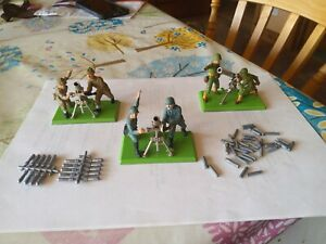 Britains Deetail model German/British/American Mortar/Gun team