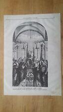 1872: Bambino Gesù circondato dalle Vergini e Santi Quadro di Bellini bruciato..
