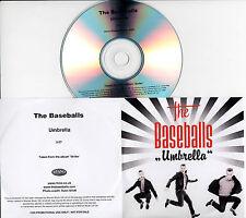 THE BASEBALLS Umbrella UK 1-trk promo test CD