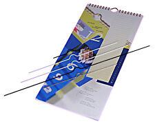 50 Kalenderaufhänger Draht, 40 cm, schwarz, Kalenderhaken groß