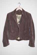 Florence + Fred Woman's Fashion Designer Velours Coton Veste Blazer Marron Taille 14