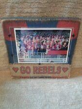 Go Rebels Frame Ole Miss burlap distressed wood handmade in USA
