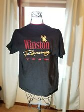Vintage Winston Racing Team T Shirt Xl Black 90's Made in Usa