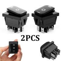 2PCS 6Pin DPDT ON-OFF-ON 3 Position Car Boat Rocker Switch AC 6A/250V 10A/125V