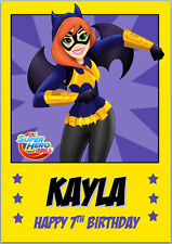 DC Super Hero Girls Batgirl Birthday Card A5 Personalised with own words