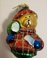 Mercury Glass Bear Christmas Ornament 4 Inches Tall