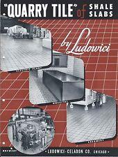 MRO Brochure - Ludowici-Celadon - Quarry Tile of Shale Slabs - c1952 (MR175)