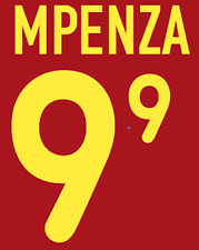 Belgium Mpenza Nameset 2000 Shirt Soccer Number Letter Heat Print Football H