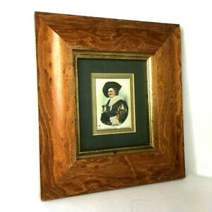 Silk Framed Card The Laughing Cavalier Antique 1915 Godfrey Phillips