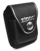 Zippo Personalised Laser Engraving Case for a lighter ZLPLBK - Leather Black