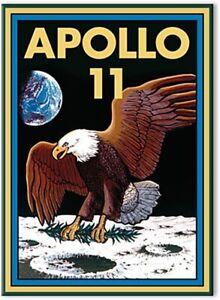 Nasa Apollo 11 Flach Kühlschrank Magnet (NM)
