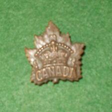 CANADA MAPLE LEAF CAP/COLLAR BADGE