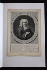 Jacobus HOUBRAKEN (1698-1780)Wilhelmus Themmen Groningen d'après Wassenbergh