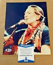 WILLIE NELSON  SIGNED 8X10 COUNTRY MUSIC PHOTO BECKETT CERTIFIED #6