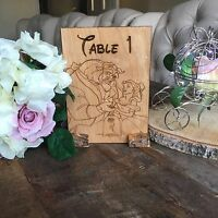 Personalized Decorative Wooden Stand Up Table Numbers  - wedding; party
