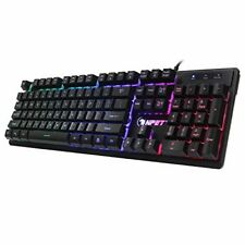 Cheap Mechanical Keyboard Gaming RGB Led Water Resistant K10 NPET Best Value New