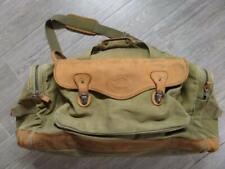 vintage HIGH SIERRA leather canvas DUFFLE bag LARGE orvis gokey battenkill