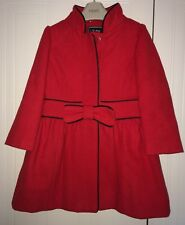 Girls Red Next Coat Age 3-4 Years - Dressy And Immaculate
