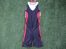 # NUOVO con etichetta ~ Da Uomo/Unisex Ironman I powertriathlon Tri Tuta Di Pelle Di Velocità Rrp £ 85 ~ S