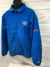 Florida Gator, zip up poly Jacket, men sz l, blue